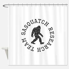 Sasquatch Research Team (Distressed) Shower Curtai