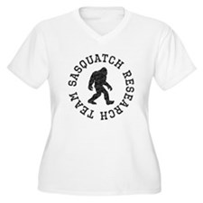 Sasquatch Research Team (Distressed) Plus Size T-S