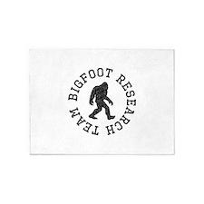 Bigfoot Research Team (Distressed) 5'x7'Area Rug