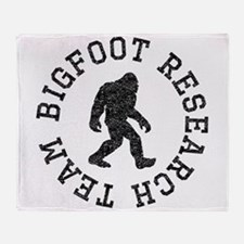 Bigfoot Research Team (Distressed) Throw Blanket