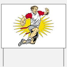 Flag Football Player Yard Sign