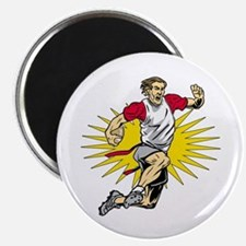 Flag Football Player Magnet