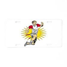 Flag Football Player Aluminum License Plate