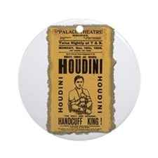 Vintage Houdini Poster Ornament (Round)