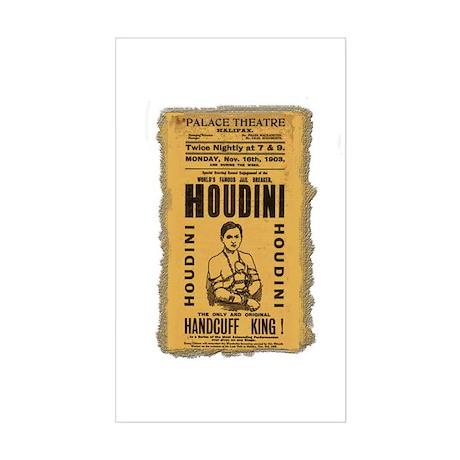 Vintage Houdini Poster Rectangle Sticker