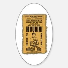 Vintage Houdini Poster Oval Decal