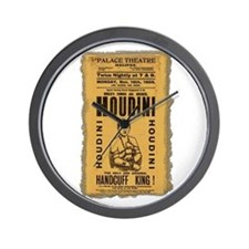 Vintage Houdini Poster Wall Clock