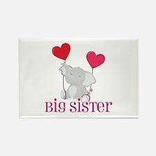Big Sister Elephant Rectangle Magnet