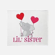 Little Sister Elephant Throw Blanket