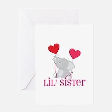 Little Sister Elephant Greeting Card