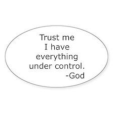 Trust Me... God Oval Stickers