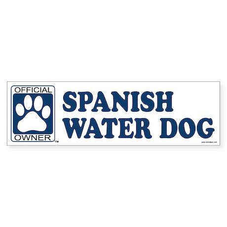 SPANISH WATER DOG Bumper Sticker