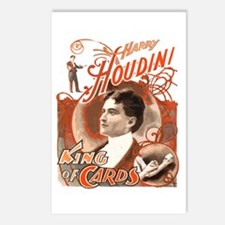 Retro Harry Houdini Poster Postcards (Package of 8