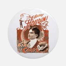 Retro Harry Houdini Poster Ornament (Round)