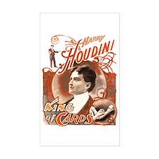 Retro Harry Houdini Poster Rectangle Decal