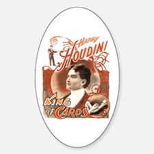Retro Harry Houdini Poster Oval Decal