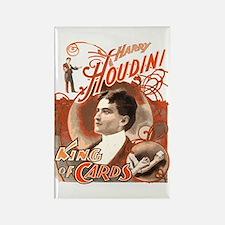 Retro Harry Houdini Poster Rectangle Magnet
