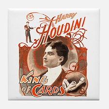 Retro Harry Houdini Poster Tile Coaster