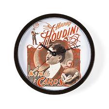 Retro Harry Houdini Poster Wall Clock