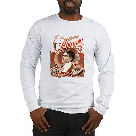 Retro Harry Houdini Poster Long Sleeve T-Shirt