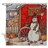 Snowman Scene Shower Curtain