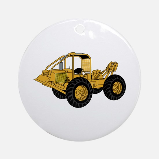 Skidder Ornament (Round)