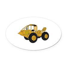 Skidder Oval Car Magnet