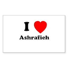 I Heart Ashrafieh Rectangle Decal