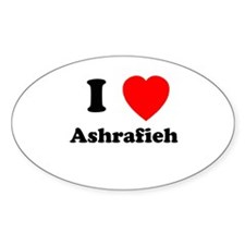 I Heart Ashrafieh Oval Decal
