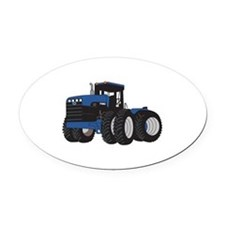 4WD Tractor Oval Car Magnet