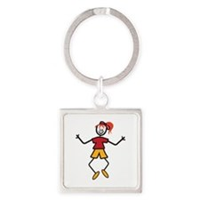 Stick Girl Keychains