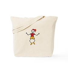Stick Girl Tote Bag