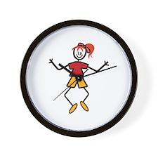 Stick Girl Wall Clock