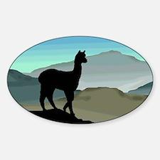 Blue Hills Alpaca Oval Decal
