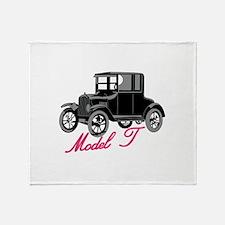Model T Throw Blanket