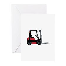 Forklift Greeting Cards
