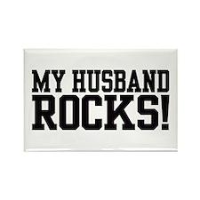 My Husband Rocks! Rectangle Magnet