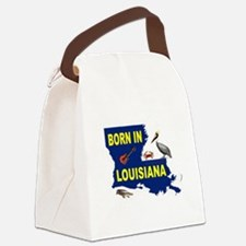 LOUISIANA BORN Canvas Lunch Bag