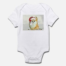 Christmas Pomeranian Infant Bodysuit