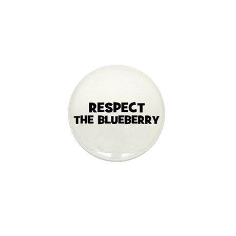 respect the blueberry Mini Button (100 pack)