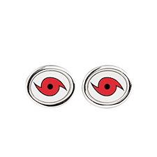 Hurricane Symbol Oval Cufflinks