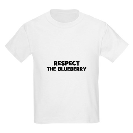 respect the blueberry Kids Light T-Shirt
