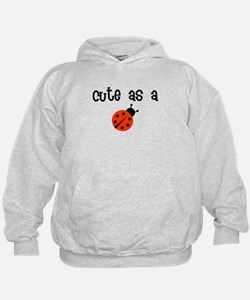 Cute as a Bug red/black Hoodie