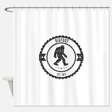 Bigfoot Est. 1811 (Distressed) Shower Curtain