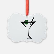 Abstract Martini Glass Ornament