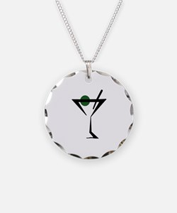 Abstract Martini Glass Necklace