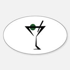 Abstract Martini Glass Decal