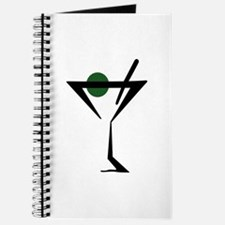 Abstract Martini Glass Journal