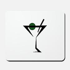 Abstract Martini Glass Mousepad