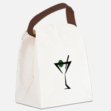 Abstract Martini Glass Canvas Lunch Bag